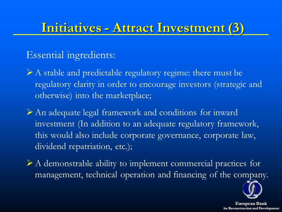 Initiatives - Attract Investment (3)