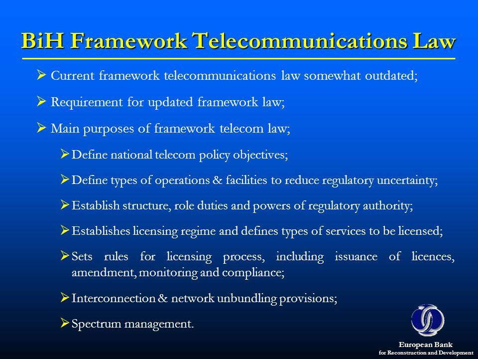 BiH Framework Telecommunications Law