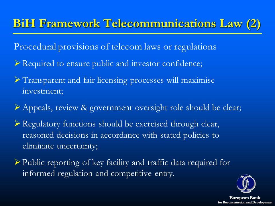 BiH Framework Telecommunications Law (2)