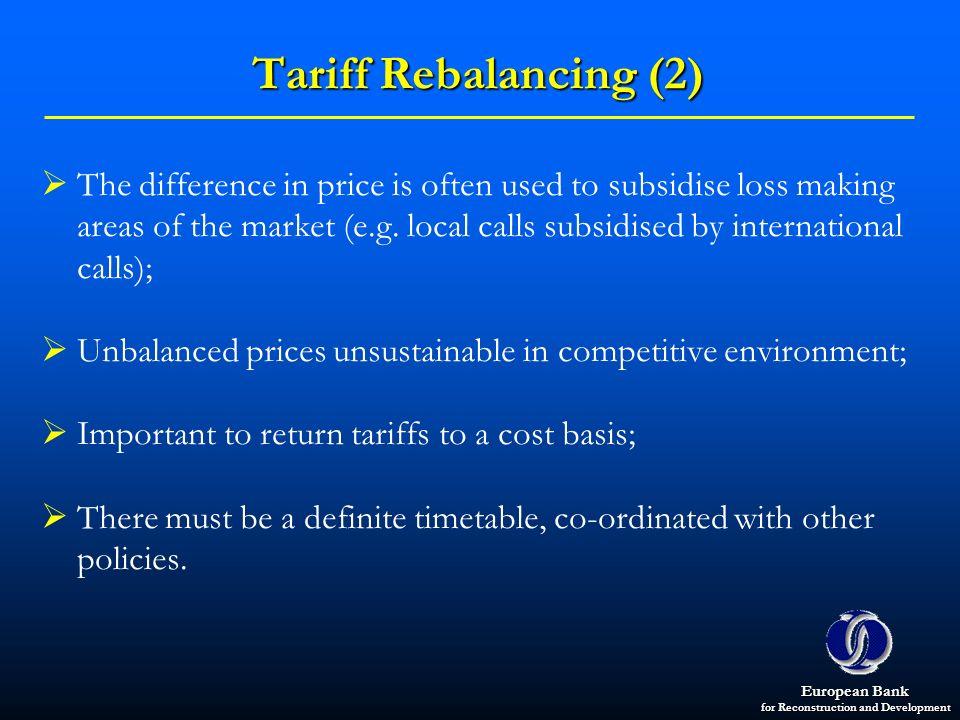 Tariff Rebalancing (2)