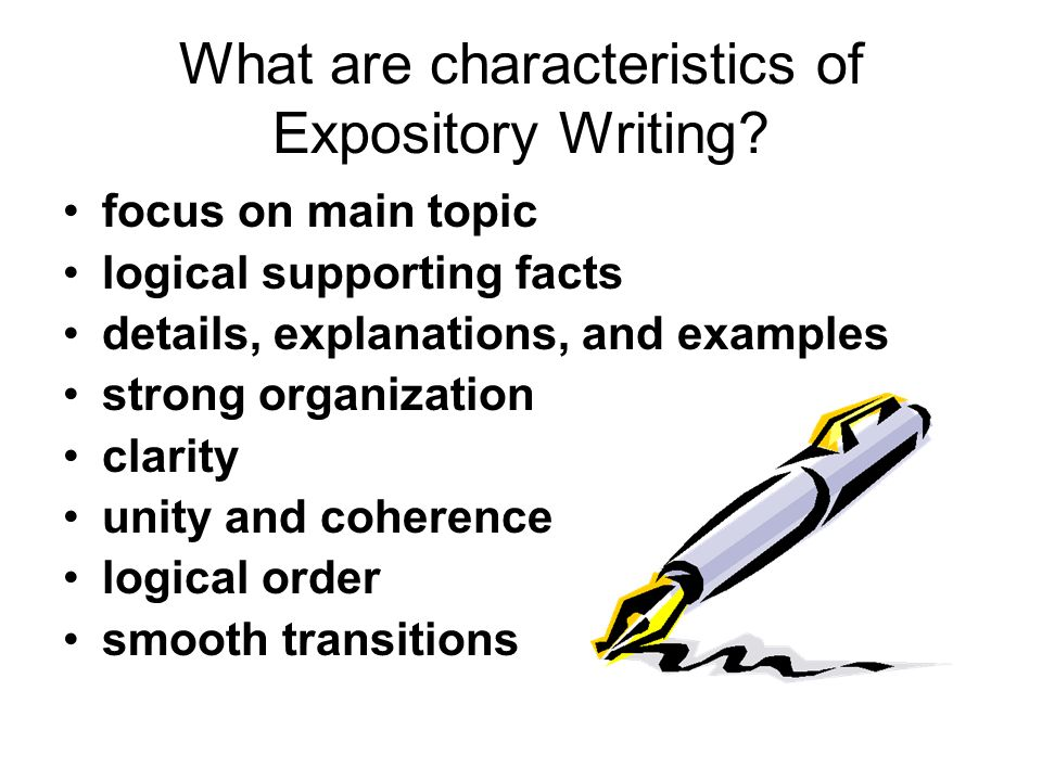 characteristics of expository essay An essay is a short non-fiction literary work written about a certain subject one  type of essay, an expository essay, gives information to the reader that is not.