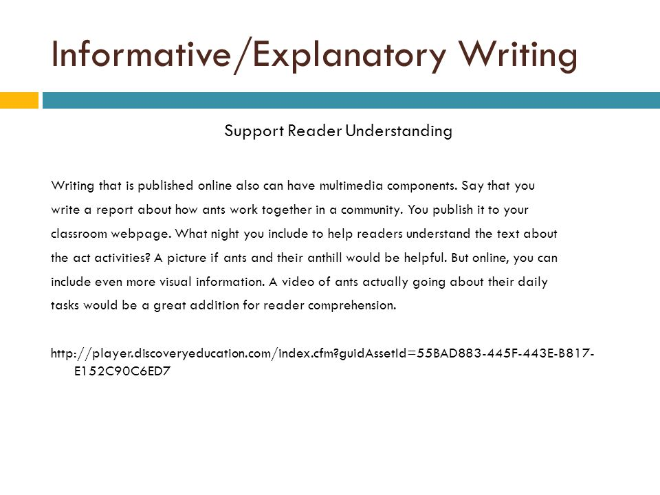 informative explanatory writing ppt video online  informative explanatory writing