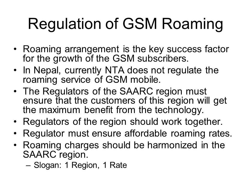 Regulation of GSM Roaming