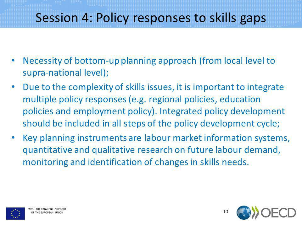 Session 4: Policy responses to skills gaps