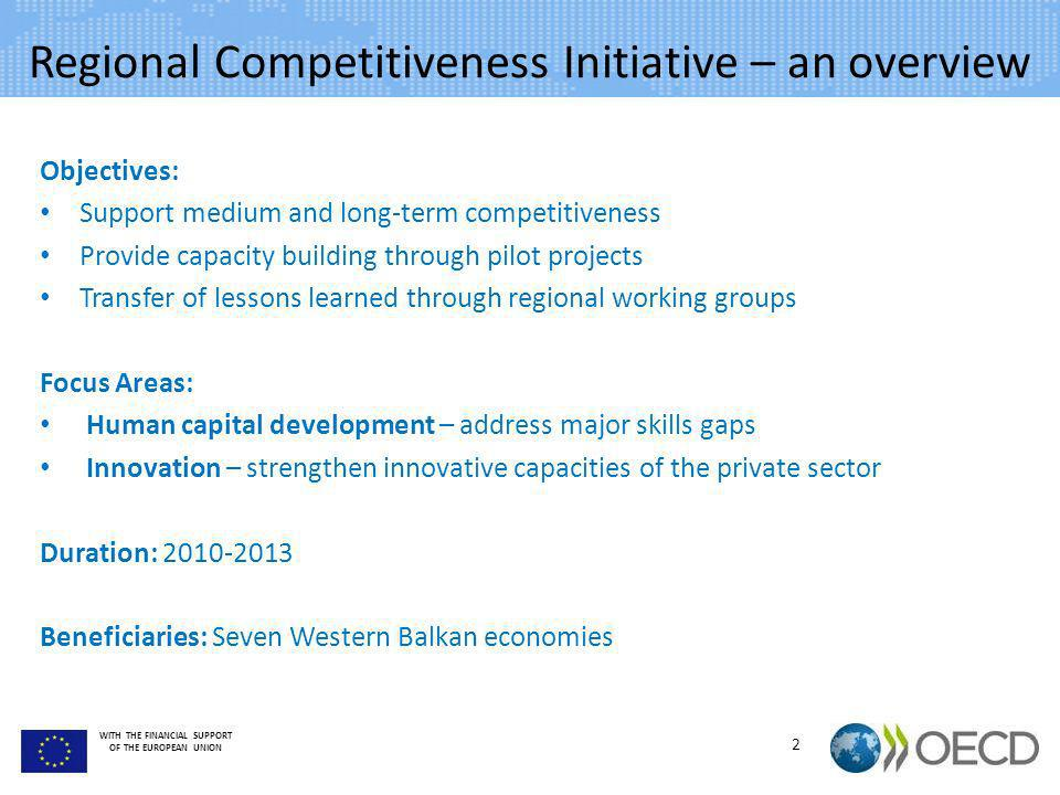 Regional Competitiveness Initiative – an overview