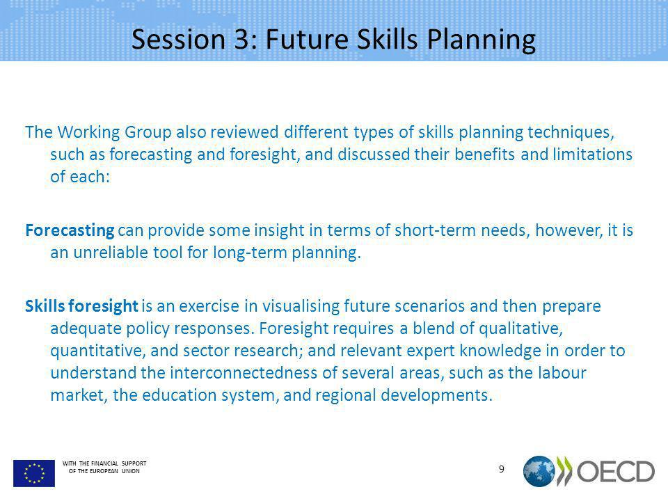 Session 3: Future Skills Planning