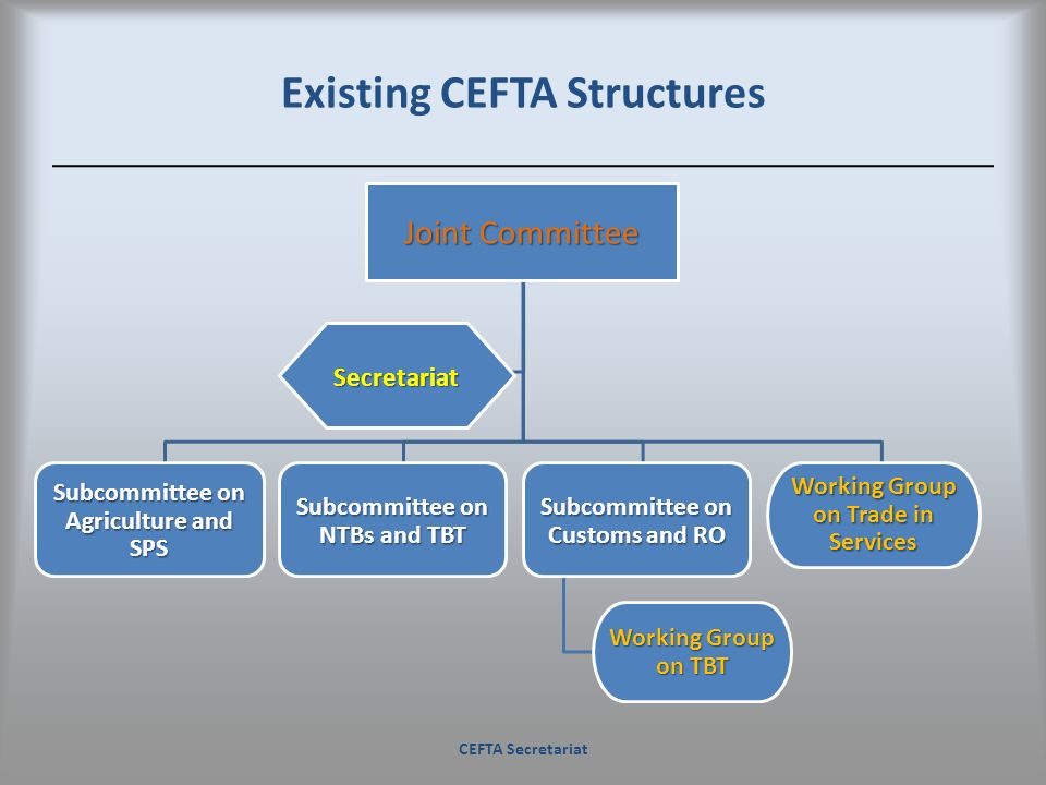 Existing CEFTA Structures