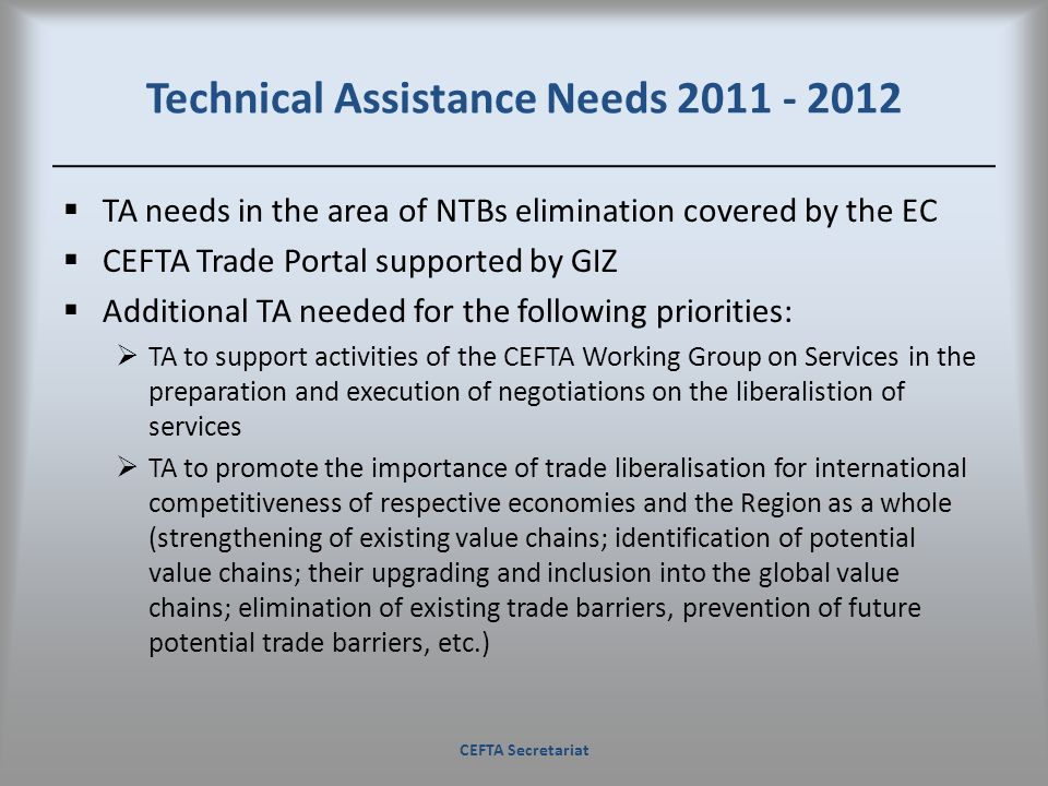 Technical Assistance Needs 2011 - 2012