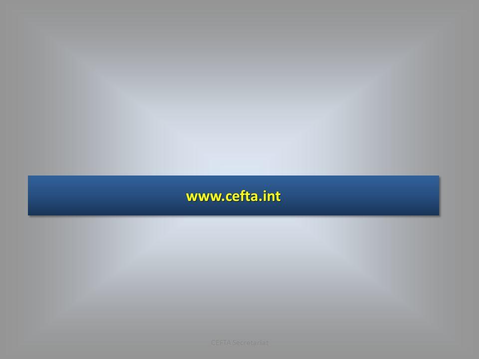 www.cefta.int CEFTA Secretariat