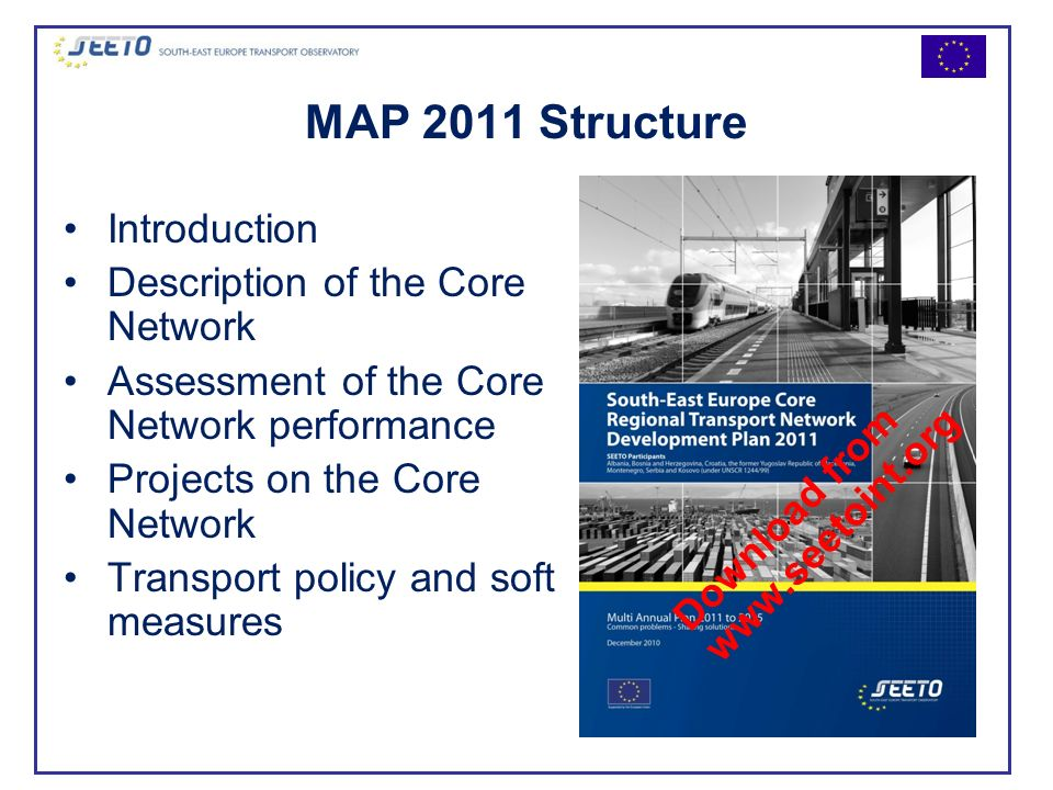 MAP 2011 Structure Introduction Description of the Core Network