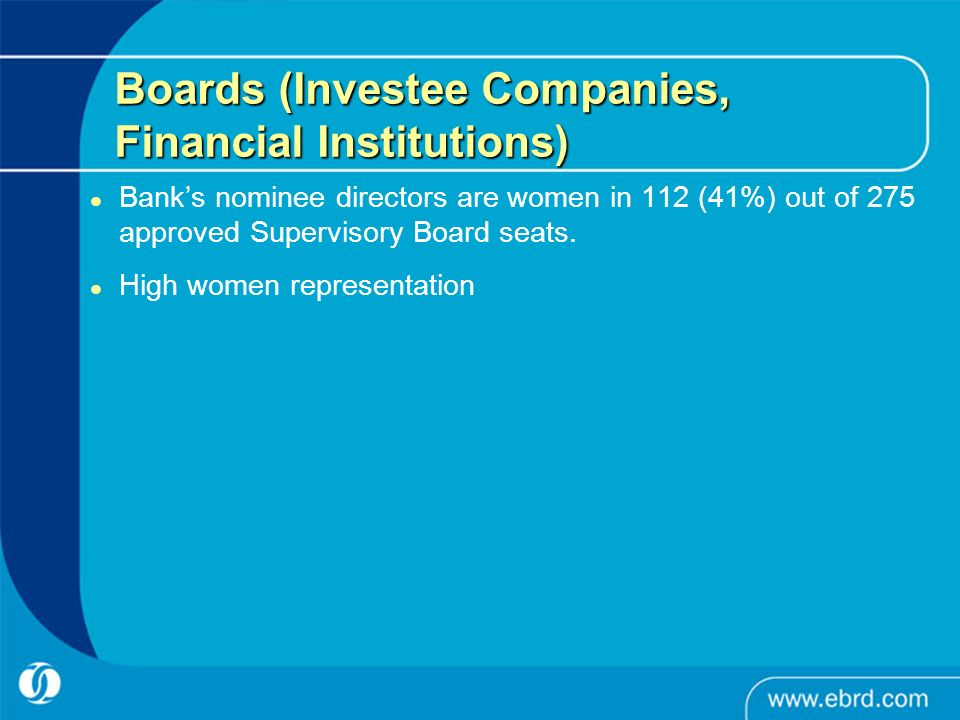Boards (Investee Companies, Financial Institutions)