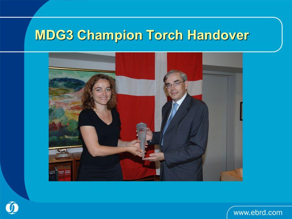 MDG3 Champion Torch Handover
