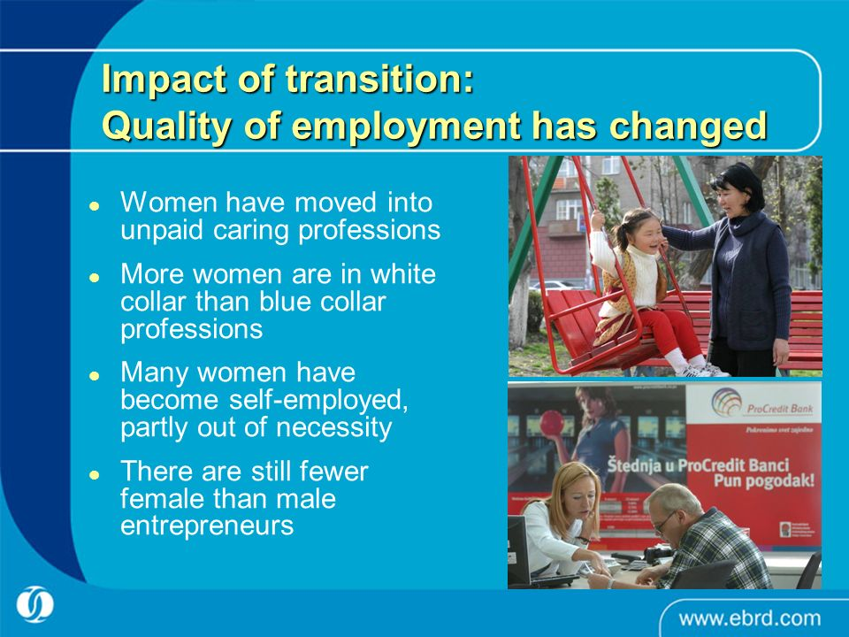 Impact of transition: Quality of employment has changed