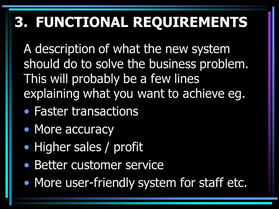 3. FUNCTIONAL REQUIREMENTS