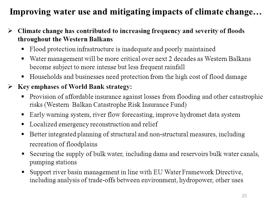Improving water use and mitigating impacts of climate change…