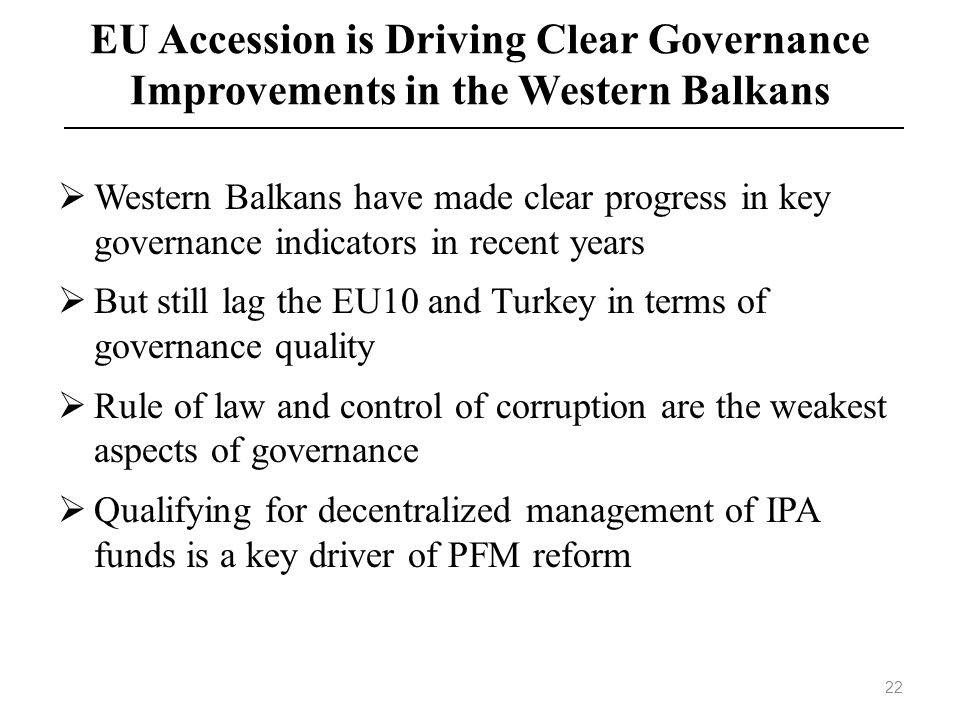EU Accession is Driving Clear Governance Improvements in the Western Balkans