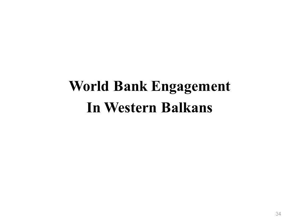 World Bank Engagement In Western Balkans