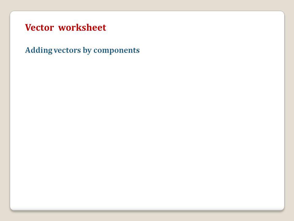 Doing Physics Using Scalars and Vectors ppt download – Adding Vectors Worksheet