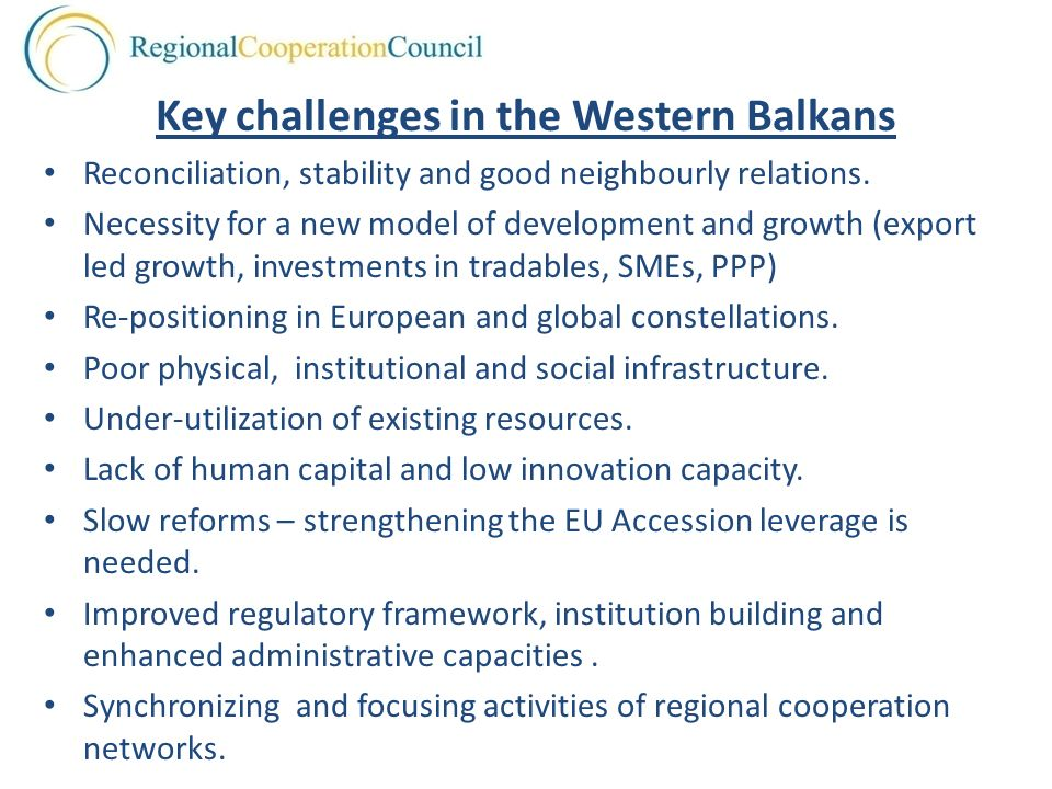 Key challenges in the Western Balkans