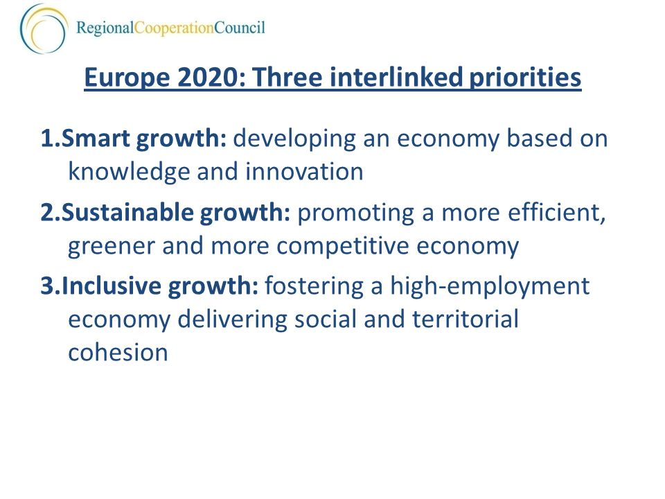 Europe 2020: Three interlinked priorities