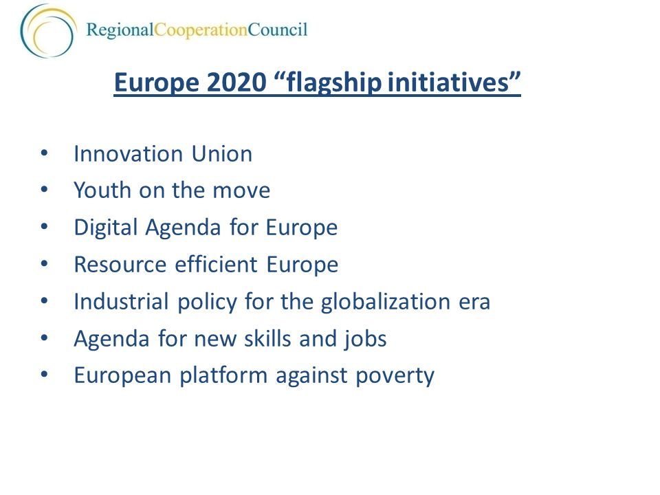 Europe 2020 flagship initiatives