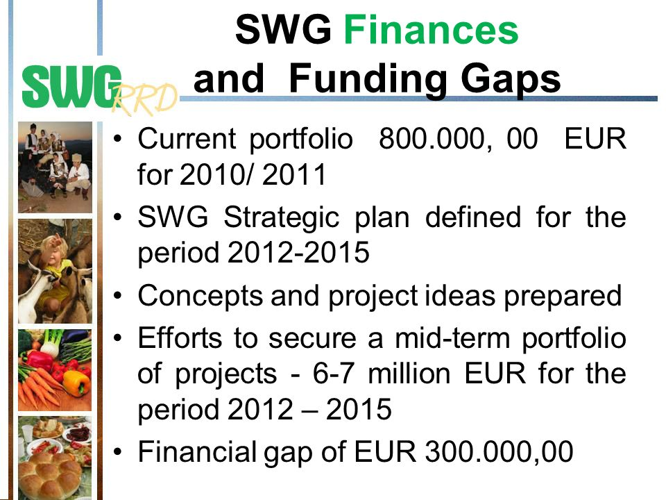 SWG Finances and Funding Gaps