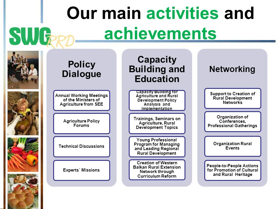 Our main activities and achievements