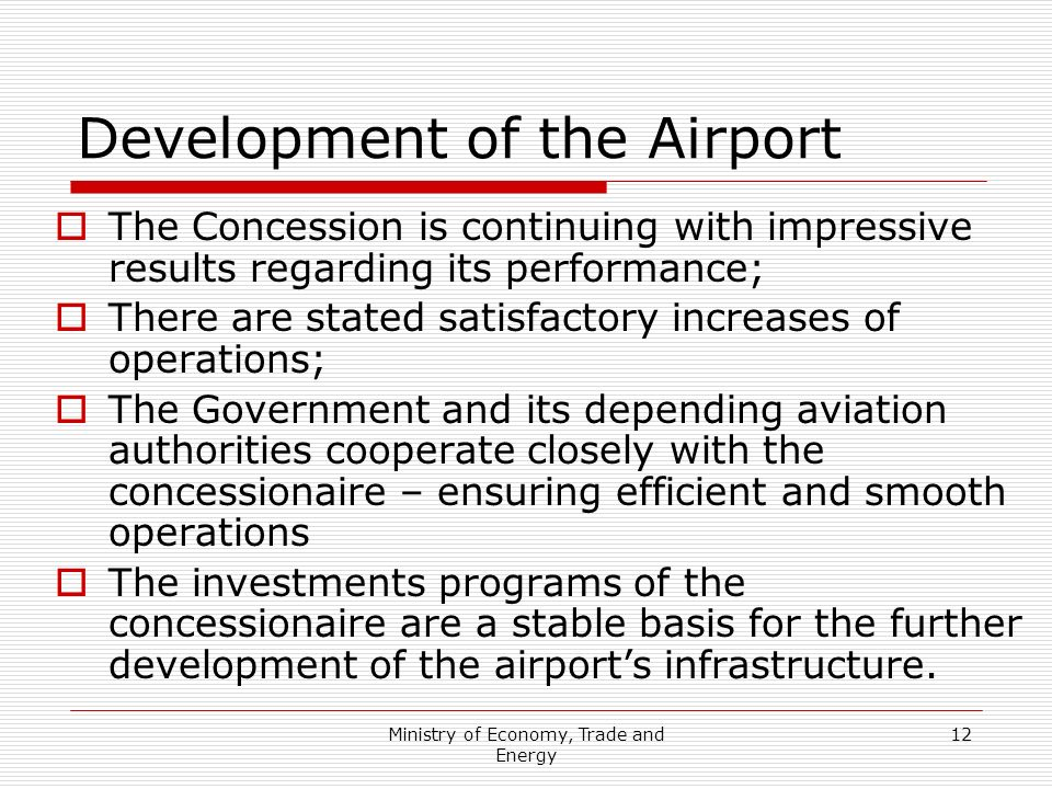 Development of the Airport