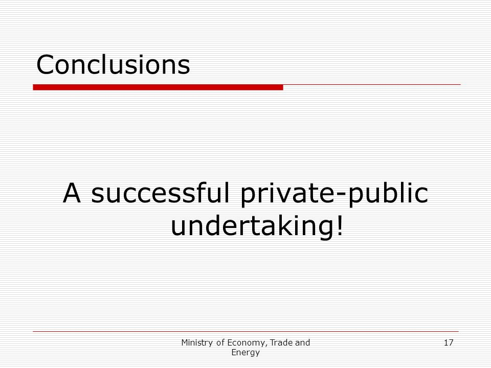 A successful private-public undertaking!