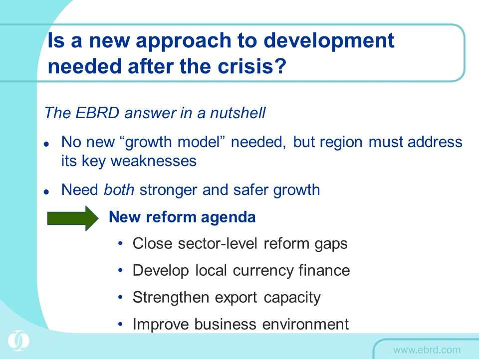 Is a new approach to development needed after the crisis