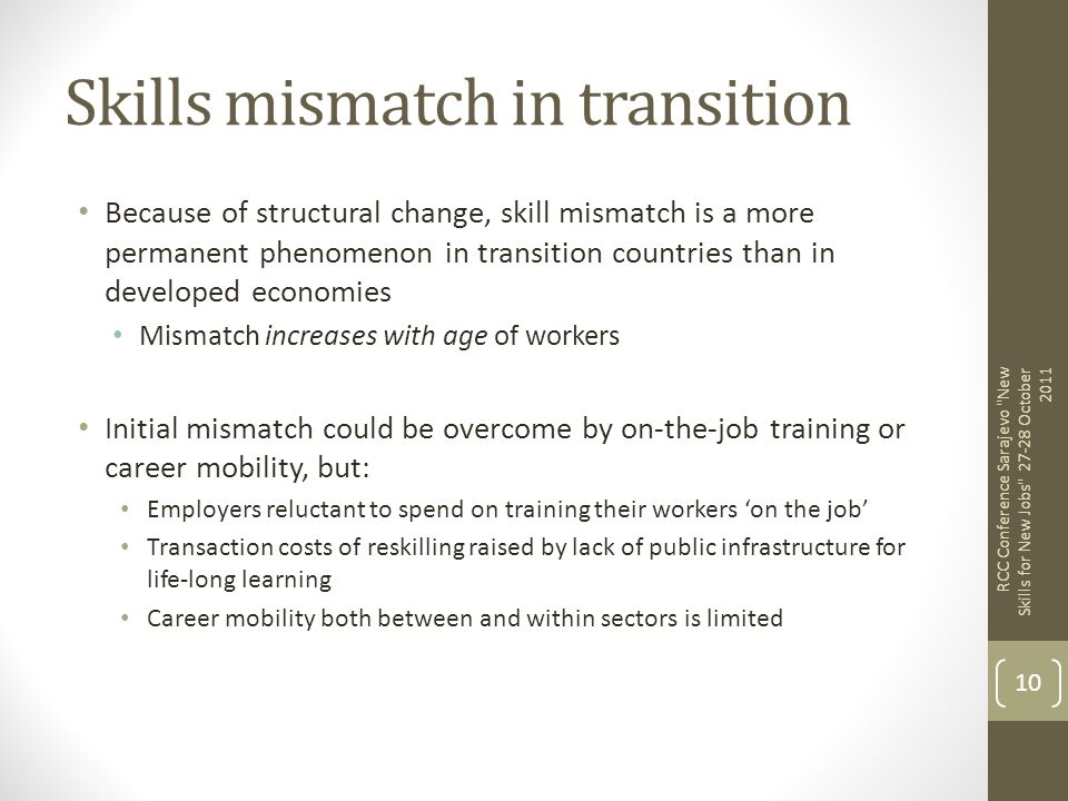 Skills mismatch in transition
