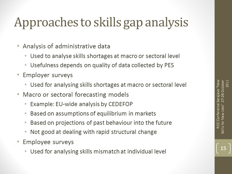 Approaches to skills gap analysis