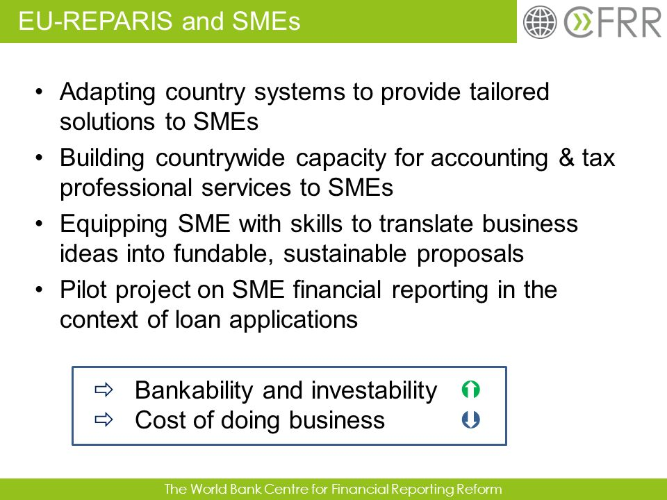 EU-REPARIS and SMEs Adapting country systems to provide tailored solutions to SMEs.