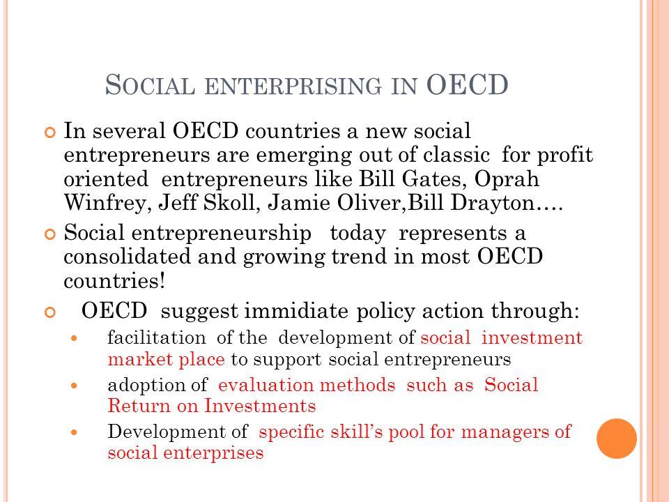 Social enterprising in OECD