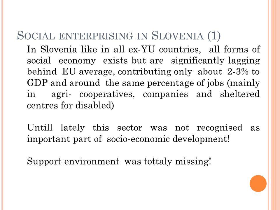 Social enterprising in Slovenia (1)
