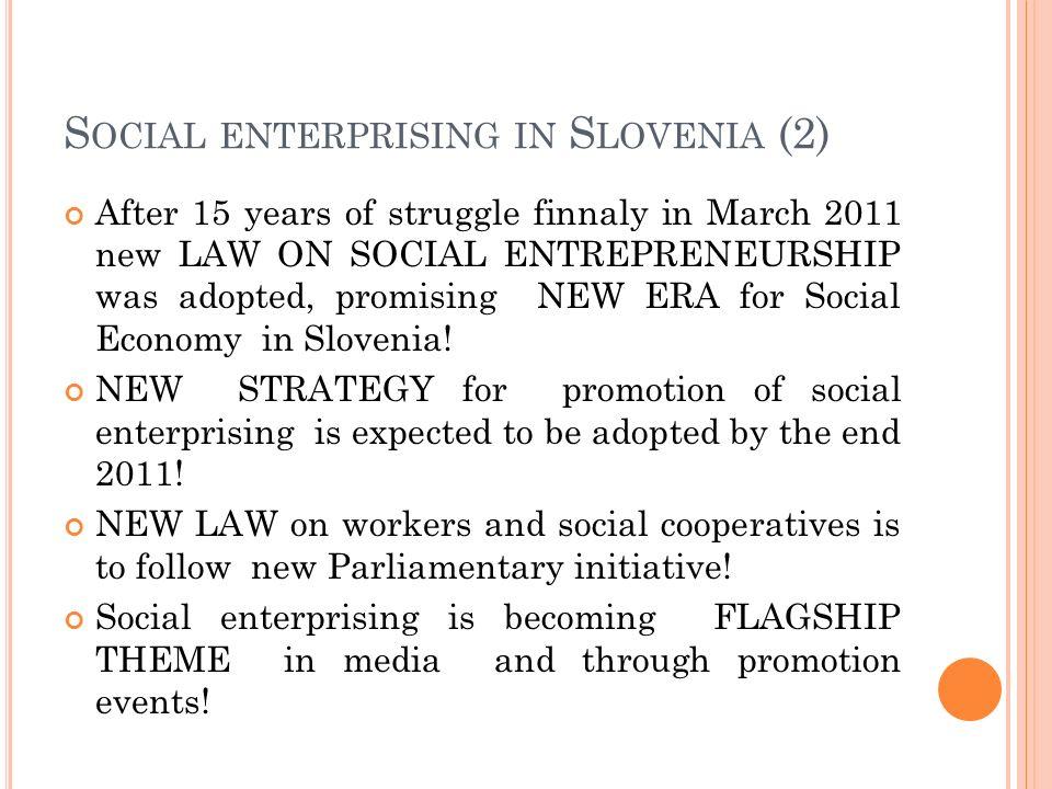 Social enterprising in Slovenia (2)