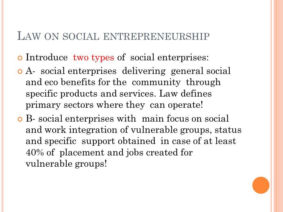 Law on social entrepreneurship