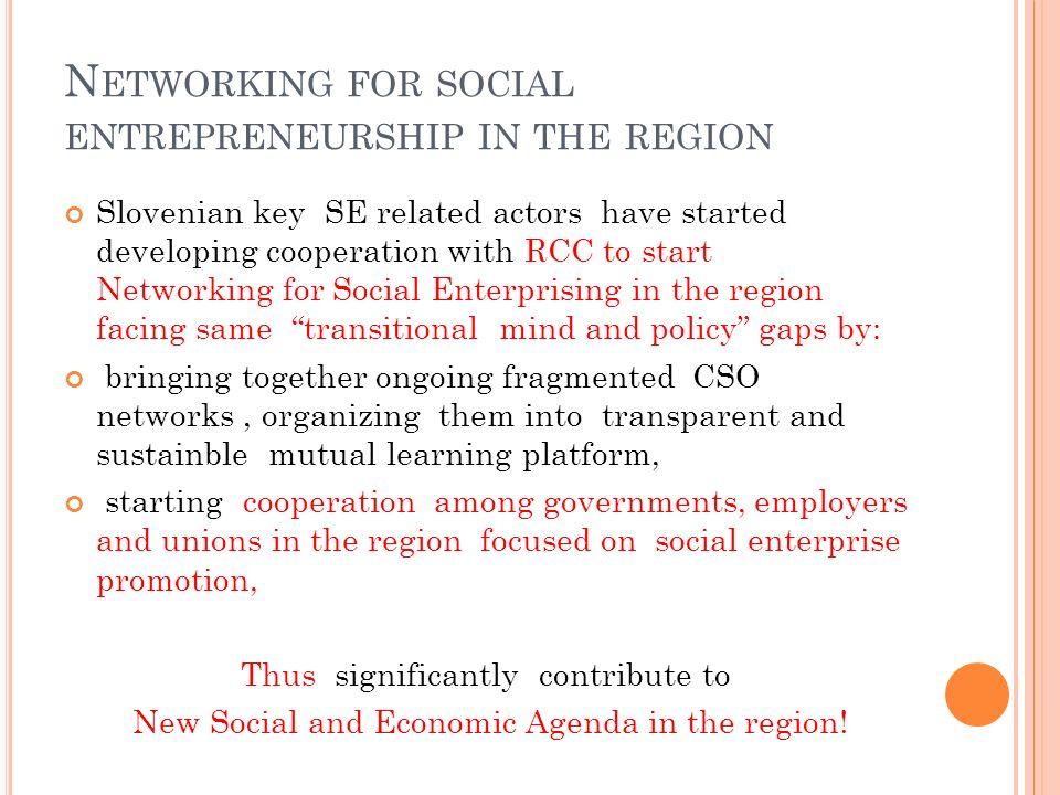 Networking for social entrepreneurship in the region