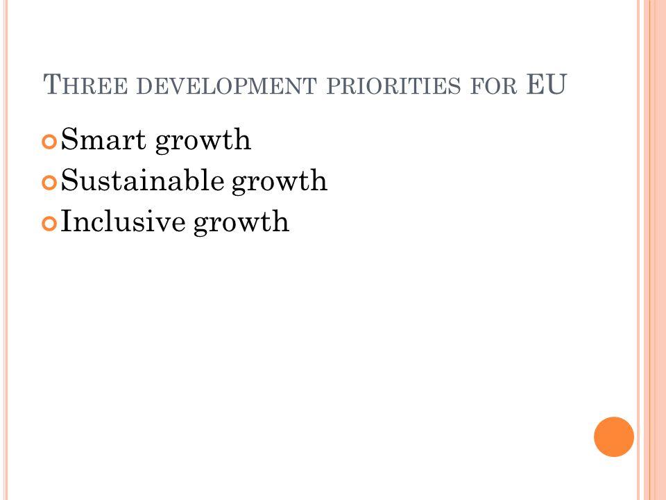 Three development priorities for EU