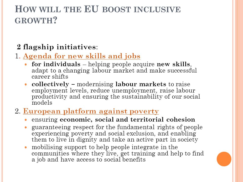 How will the EU boost inclusive growth
