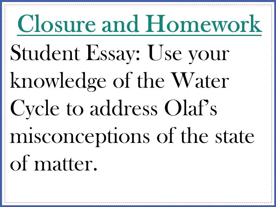 Judicious use of water essay