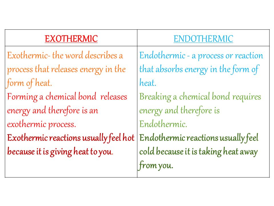 Venn Diagram Of Endothermic And Exothermic Reactions Electrical