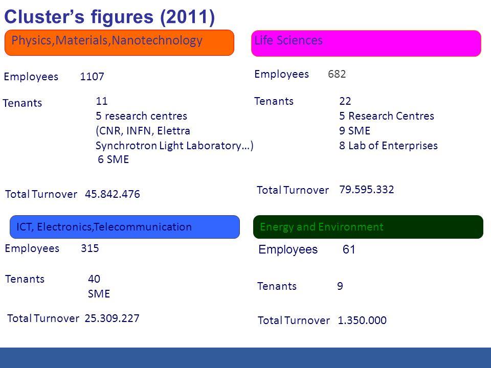 Cluster's figures (2011) Physics,Materials,Nanotechnology