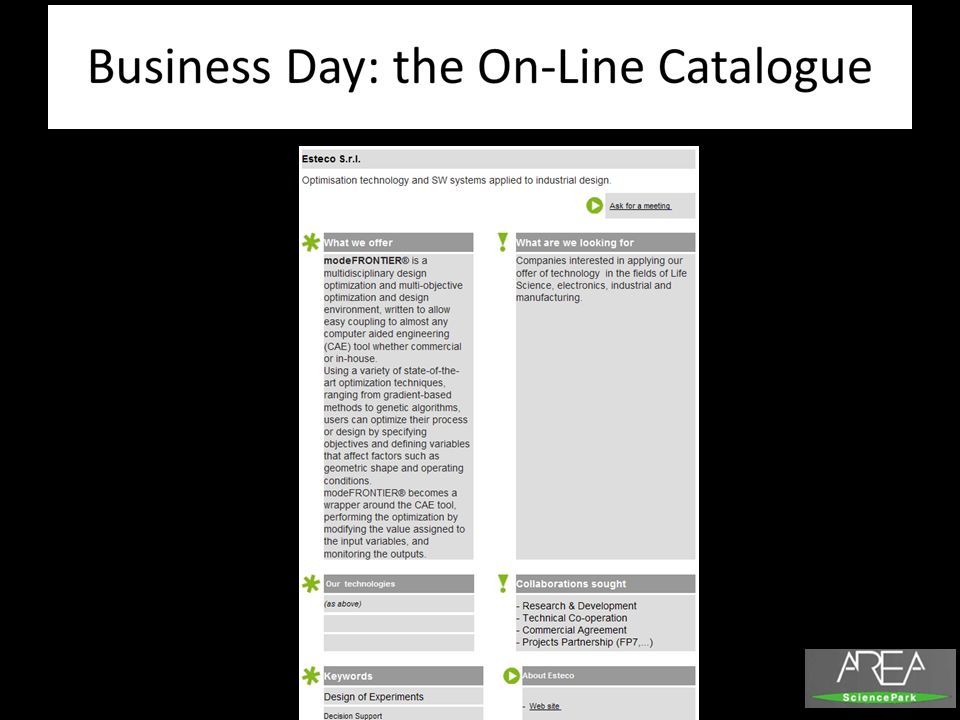 Business Day: the On-Line Catalogue