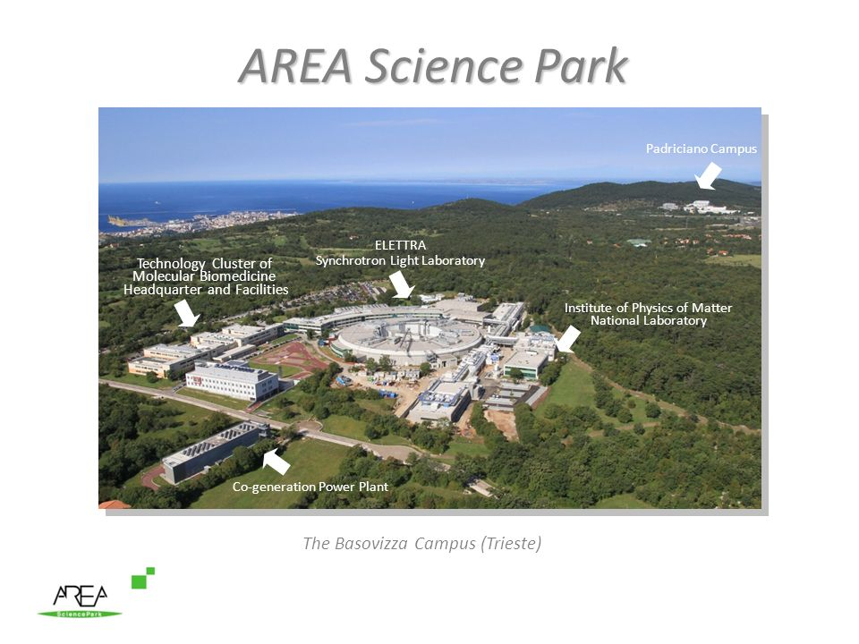 AREA Science Park The Basovizza Campus (Trieste) Technology Cluster of