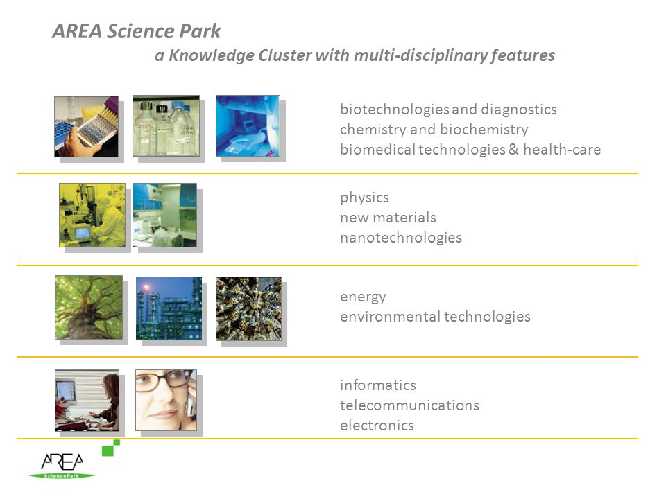 AREA Science Park a Knowledge Cluster with multi-disciplinary features