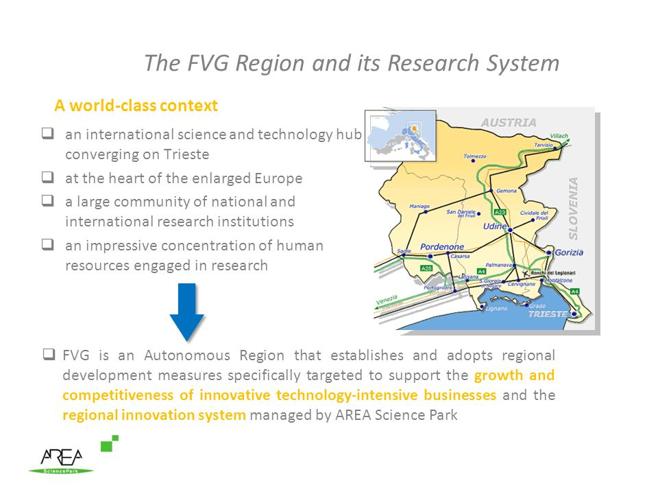 The FVG Region and its Research System