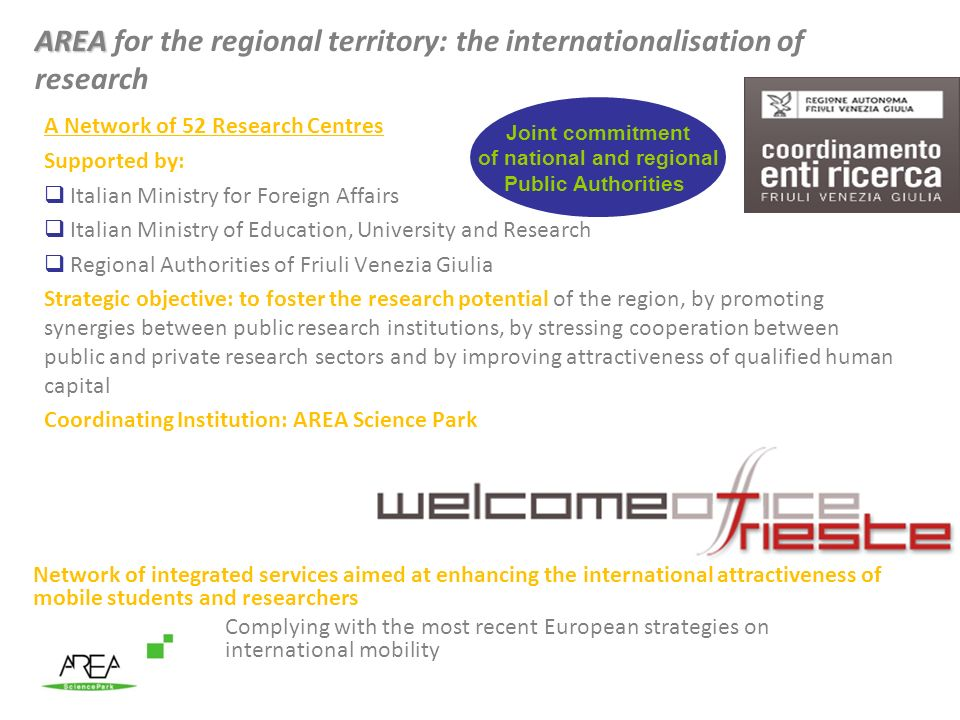 AREA for the regional territory: the internationalisation of research