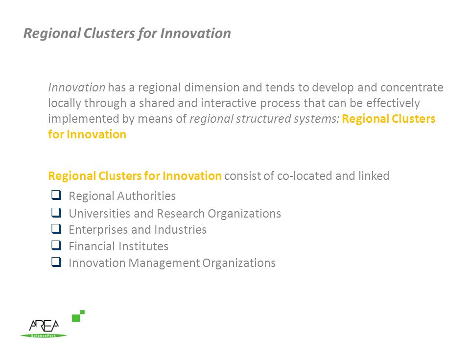 Regional Clusters for Innovation