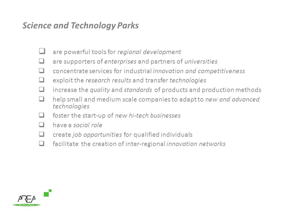 Science and Technology Parks